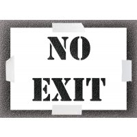 Reusable Stencil - No Exit