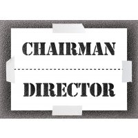 Reusable Stencil - Chairman/Director