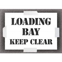 Loading Bay Keep Clear Stencil Kit