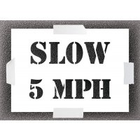 Reusable Stencil - Slow 5MPH