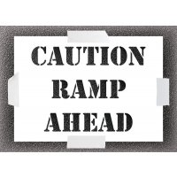 Caution Ramp Stencil Kit