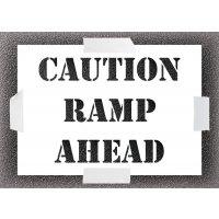 Reusable Stencil - Caution Ramp Ahead