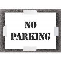 Reusable Stencil - No Parking