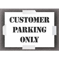 Reusable Stencil - Customer Parking Only