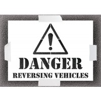 Danger Reversing Vehicles Stencil Kit