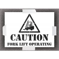Reusable Stencil - Caution Forklift Operating