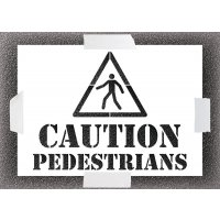 Reusable Stencil - Caution Pedestrians