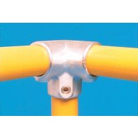 Modular Barrier - 3 Way 90º Elbow Galvanised Clamp