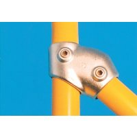 Modular Barrier - Adjustable Short Tee 30-60° Galvanised Clamp