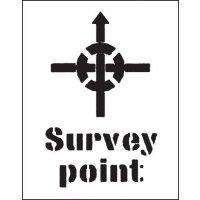 Reusable Industrial Marking Stencils - Survey Point