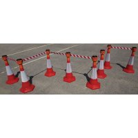 Skipper™ Retractable Barrier & Cone Kits - 750mm Cones