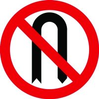 Traffic Signs - No U-Turn