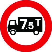 Traffic Signs - No Goods Vehicles Over 7.5 Tonne