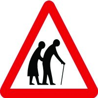 Traffic Signs - Elderly People Crossing