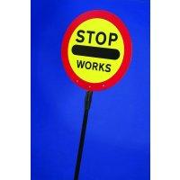 STOP Works Lollipop Traffic Sign