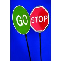 STOP / GO Lollipop Traffic Sign