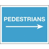 Pedestrians (Arrow Right) - Class 1 Reflective Sign