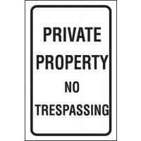 Private Property/No Trespassing Parking Control Sign