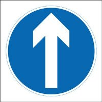 Ahead Only Economy Works Traffic Sign