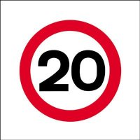 20 MPH Economy Works Traffic Sign