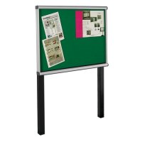 SCROLL Illuminated Post-Mounted Exterior Showcases
