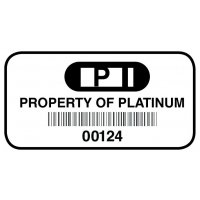 Destructible Vinyl Barcode Labels