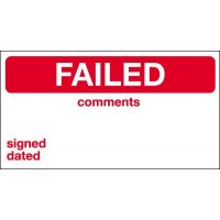 Failed/Comments/Signed/Dated Quality Control Labels