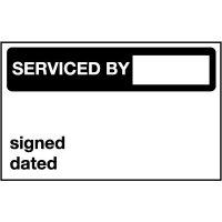 Serviced By / Signed / Dated - Quality Control Labels