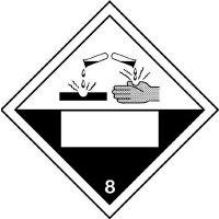 Corrosive & 8 - Hazard Warning Diamond Placards