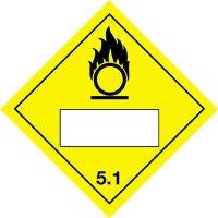 Oxidising & 5.1 - Hazard Warning Diamond Placards