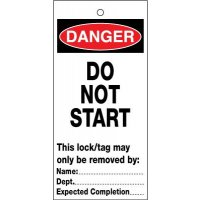 Lockout Safety Tags - Do Not Start (pack of 10)