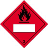 Flammable & 3 - Hazard Warning Diamond Placards