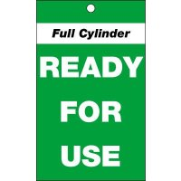 Cylinder Status Tags - Full Cylinder Ready For Use