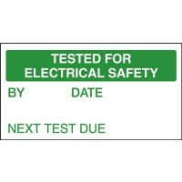 Tested for Electrical Safety/Next Test Quality Control Labels