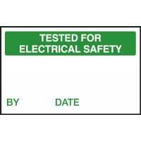 Tested for Electrical Safety/By Quality Control Labels