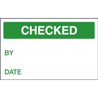 Checked / By / Date - Quality Control Labels