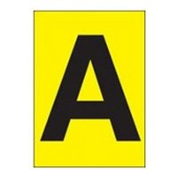 Single Letters - Highly Visible Vinyl Cloth Labels