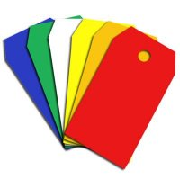 Polypropylene Colour Coded Tags - Chamfered
