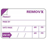 Removx™ Shelf Life Labels