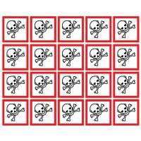 GHS Symbols On-a-Sheet - Toxic