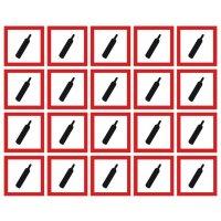 GHS Symbols On-a-Sheet - Compressed Gas