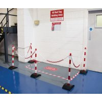 5S Red Tag Holding Area Kits With Post & Chain Barrier