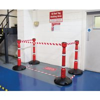 5S Red Tag Holding Area Kits With Skipper™ Barrier