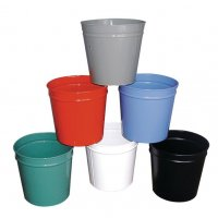 Circular Coloured Waste Baskets