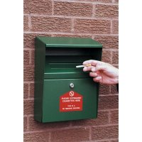 Wall-Mounted Cigarette Disposal Bins