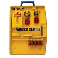 Portable Padlock and Lockout Station