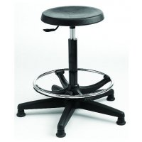 Padded Stool with Foot Ring