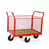 Premier Mesh Sided Platform Truck - Diamond 250kg Load