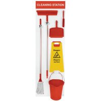 Fully Stocked Cleaning Station Shadow Board