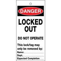 Locked Out Do Not Operate Lockout Safety Tags